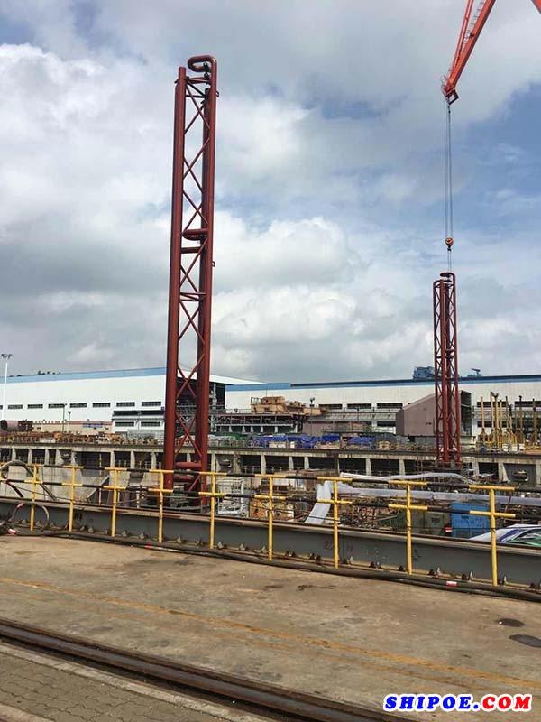 江阴市安海船舶设备有限公司设计制造的海水提升塔