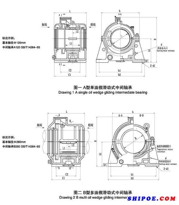 GB/T 14364-93型滑动式中间轴承-江华科技