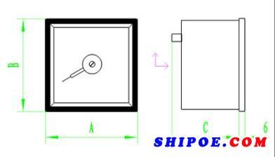 上海自一船用仪表有限公司生产的热电偶温度表K型Q96-TC6