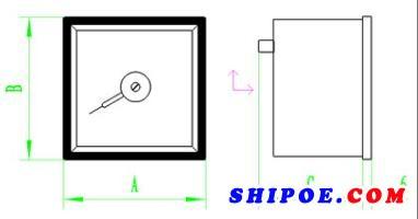 上海自一船用仪表有限公司生产的热电阻温度表(TS6 PT100型)
