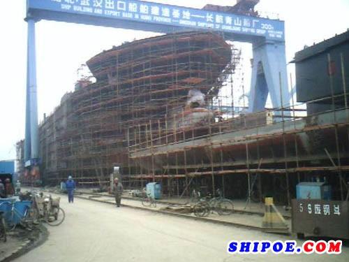 山东欧森管道科技有限公司为青山造船厂供应的船用压载管线系统(船舶GRE玻璃钢管道)