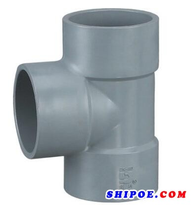 佑利控股生產的船用pvc三通(船舶塑料管件)