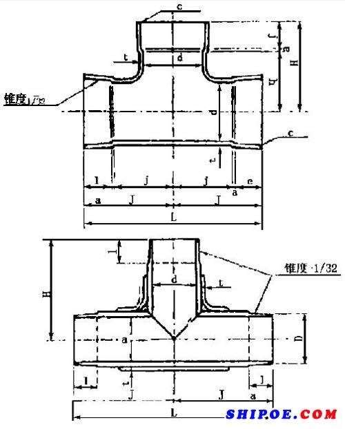 日本的整体和相贯三通结构(船用玻璃钢压舱管)