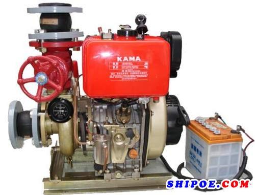 天台县海洋泵阀有限公司生产的CCS船级社型式认证65CWY船用应急消防泵