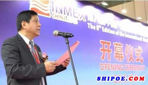 ▲广东省船舶工业协会会长、中船集团广州船舶工业公司总经理殷学明