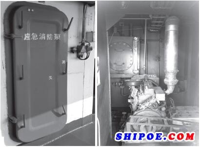 图1专用船舶应急消防泵室
