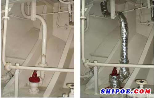 船用应急消防泵防火分隔