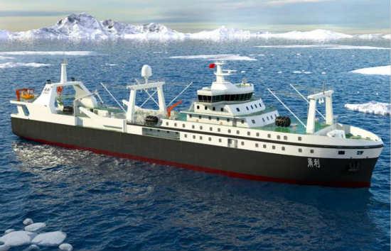 潍柴助力打造万吨级南极磷虾船