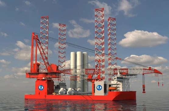 2000吨自升自航式一体化海上风电安装平台