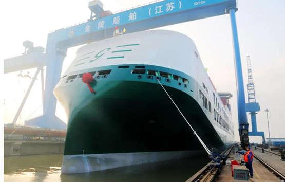 第5艘意大利7800米车道货滚船顺利出坞