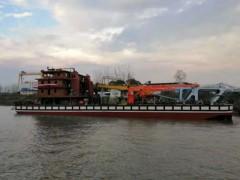 """钢索抓斗挖泥船""""长鹰9""""在武汉航道船厂顺利下水"""