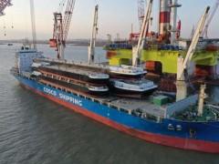 还一次4艘! 中远海运船舶成功装载大驳船
