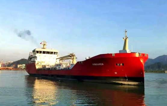 MARIC5600载重吨电力推进冰区燃料加注船在PAXOCEAN珠海成功交付