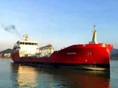 七O八所设计5600载重吨电力推进冰区燃料加注船在PAXOCEAN珠海成功交付