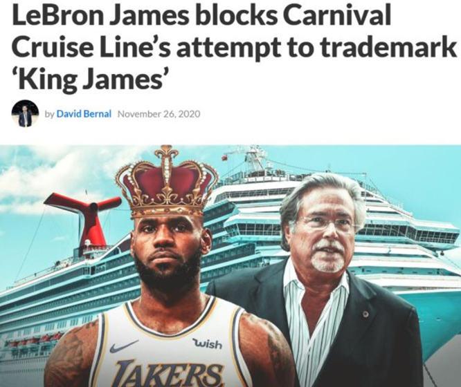 """一艘船的名字中使用""""King James""""一词 热火老板遭詹姆斯指控"""