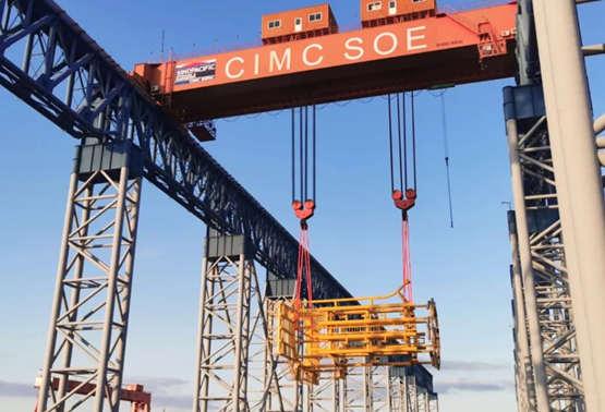 中集太平洋海工首批风电套笼项目顺利交付