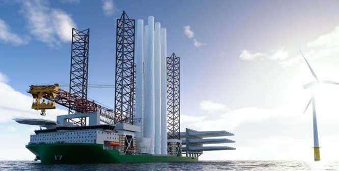 丹麦设计公司KNUD E. HANSEN新推风力涡轮机安装船设计