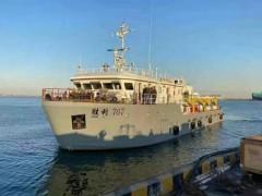 搭载赛思亿侧推变频电控设备的中石化浅水气枪震源船顺利交付