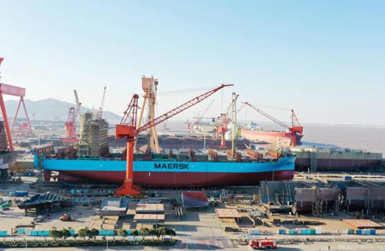 长宏国际第二艘2300TEU集装箱船顺利下水