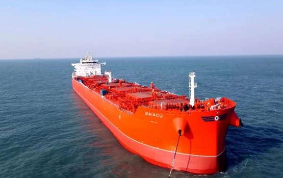 扬子江船业KLAVENESS第六艘83500DWT化学品组合船命名交付