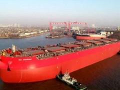 新年首艘船舶-新时代造船一艘325000吨超大型矿砂船下水