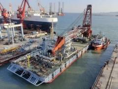 烟台打捞局船舶修造中心顺利完成2021年首次出坞作业