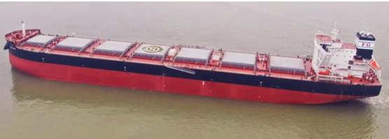 上船院:運糧能手85000噸散貨船 首制船順利交付啟航