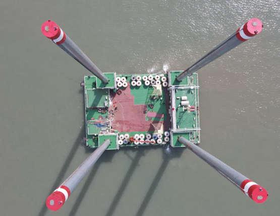 """台州理工设计、回浦船舶建造自升式海上平台""""海勘9""""顺利完工"""