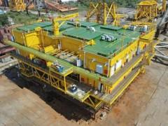 宏华造!青洲三500兆瓦海上风电项目海上升压站上部组块圆满交付发运