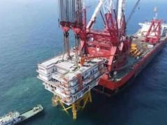 厦船重工承建首座海上升压站顺利完成滚装运输及海上安装