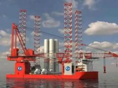 国内首艘2000吨自升自航式一体化海上风电安装平台开工建造